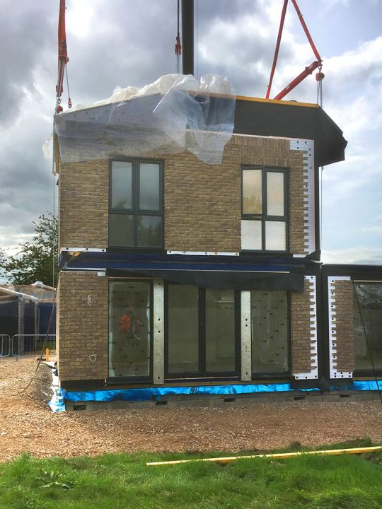 Modular home construction at Marlborough Park, Swindon