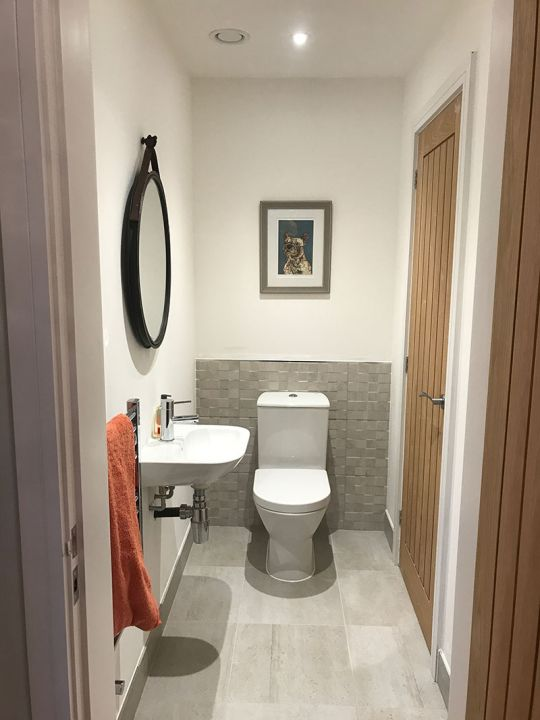 Modular show home en suite bathroom - Marlborough Park, Swindon