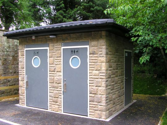 Public toilet facilities in Ryvelin Valley